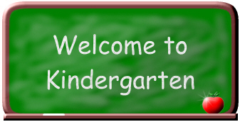 Welcome to Kindergarten green chalk board